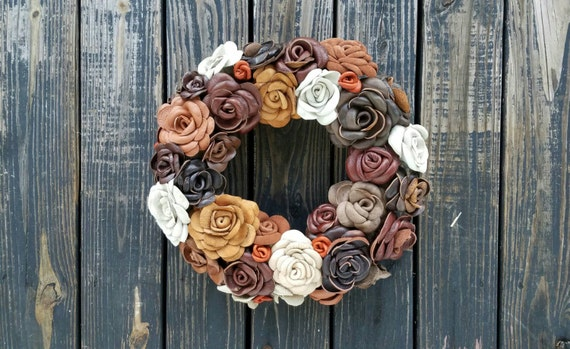 Wreath, Leather Flower Wreath