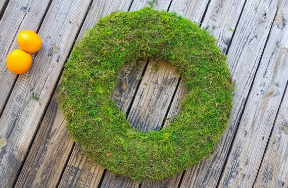 Wreath, Moss Covered Wreath, Moss Wreath