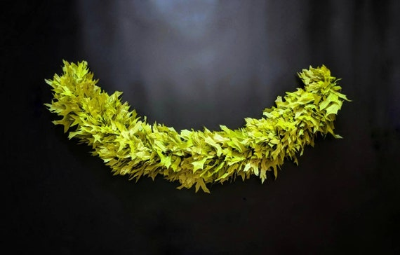 Garland, Preserved Green Oak Leaf Garland, Christmas Garland, Fall Garland, Autumn Garland, Thanksgiving Garland