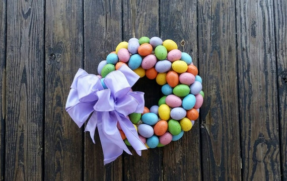 Easter Wreath, Easter Egg Wreath, Speckled Egg Wreath, Egg Wreath, Spring Wreath