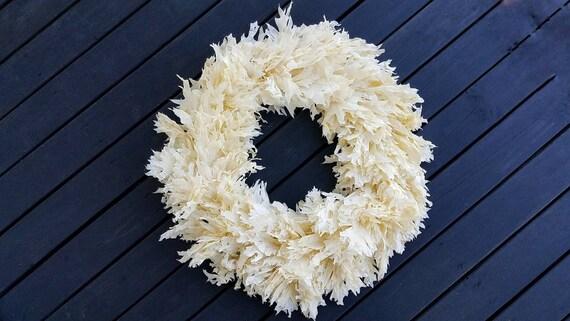 Wreath -  Dried Flower Wreath  - Oak Leaf Wreath - Fall Wreath - Christmas Wreath