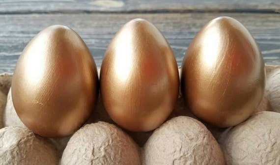 Decorative Easter Eggs, Easter Eggs, Metallic Eggs, Metal Leaf Eggs, Brass Eggs