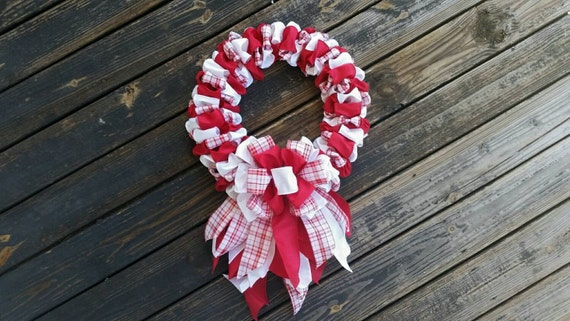 Christmas Wreath, Ribbon Wreath, Holiday Wreath, Holiday Decor, Christmas Decor