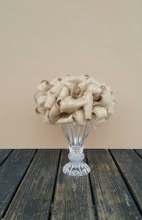 Christmas Tree Topper, Rustic Burlap Tree Topper