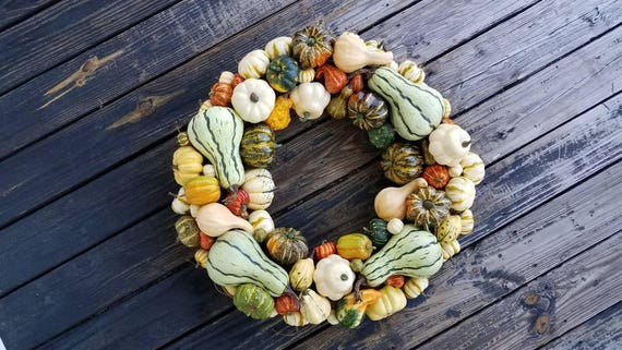 Thanksgiving Wreath, Pumpkin and Acorn Wreath
