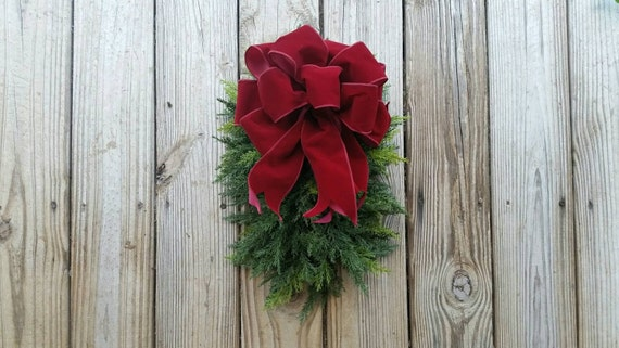 Christmas Wreath, Holiday Wreath, Christmas Spray, Christmas Swag, Holiday Swag, Artificial Cedar Swag