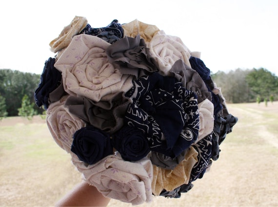 Bouquet, Large Fabric Bridal Bouquet