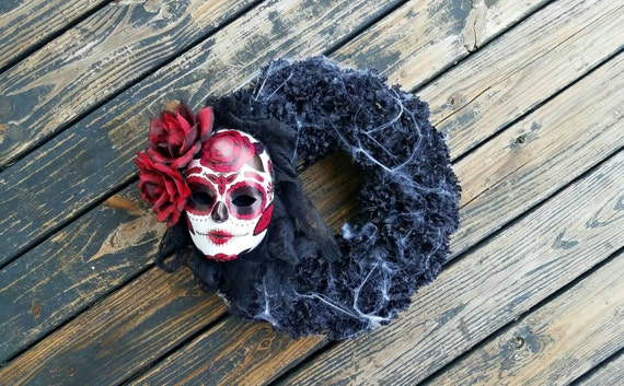 Halloween Wreath, Day of the Dead Wreath