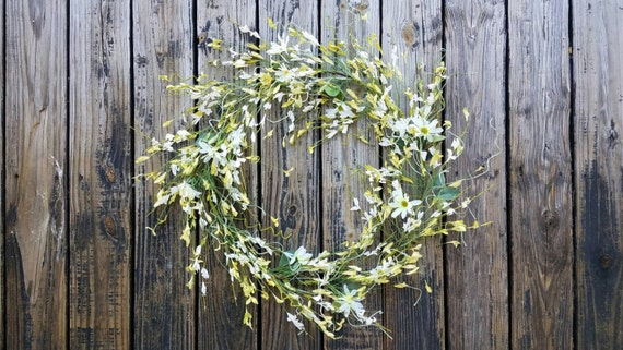 Spring Wreath, Summer Wreath, Easter Wreath, Wedding Wreath, Large Wreath