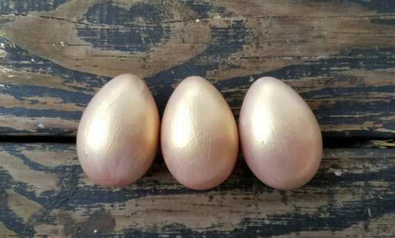 Decorative Easter Eggs, Easter Eggs, Metallic Eggs, Metal Leaf Eggs, Rose Gold Eggs