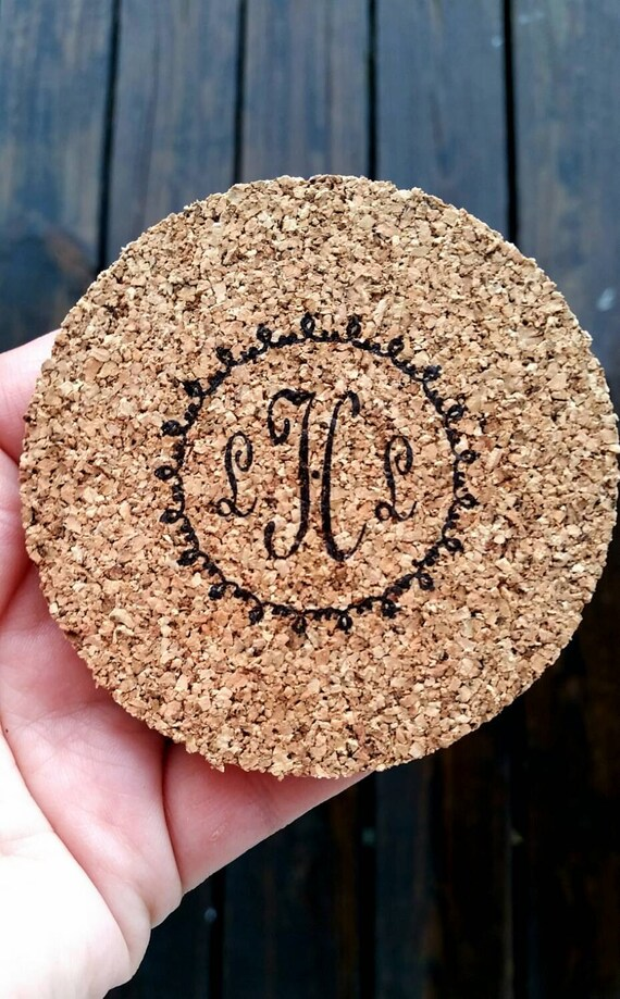 Bulk Cork Coasters, Personalized Bulk Cork Coasters for Wedding Receptions and Parties