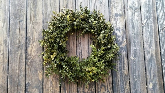 Wreath -  Dried Flower Wreath  -  Eucalyptus Wreath