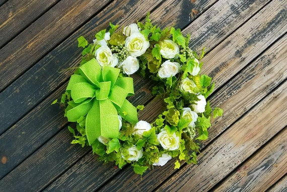 Spring Wreath, Summer Wreath, Mother's Day Wreath, Wedding Wreath, Ready to Ship