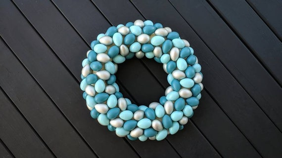 Ready to Ship, Easter Wreath, Easter Egg Wreath, Egg Wreath, Spring Wreath