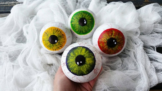 Eyeballs, Paper Mache Eyeballs, Halloween Prop