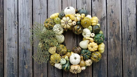 Thanksgiving Wreath, Pumpkin and Squash Wreath, Fall Wreath, Autumn Wreath, Pumpkin Wreath, Halloween Wreath
