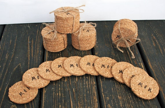 Bulk Cork Coasters, Personalized Bulk Cork Coaster for Weddings and Parties