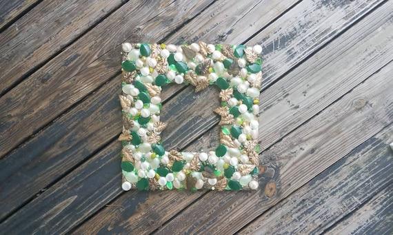 Christmas Wreath, Holiday Wreath, Jeweled Wreath, Brooch Wreath, Wedding Wreath, Mosaic Wreath