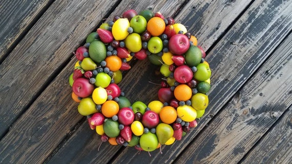 Fruit Wreath, Artificial Miniature Fruit Wreath