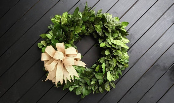 Wreath -  36 inch Dried Flower Wreath  -  Salal Wreath