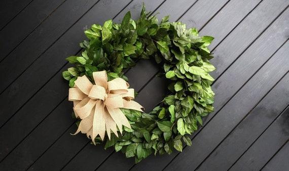Wreath -  36 inch Dried Flower Wreath  -  Salal Wreath