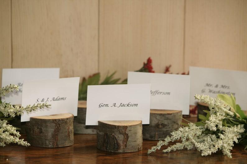 Rustic Wedding Decor Escort Card Holder Place Holder 190 Rustic Place Card Holder Rustic Wedding Supplies Wood Place Card Holder