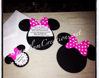40 minnie mouse custom baby shower invitationsminnie mouse etsy 100 minnie mouse custom baby shower invitations item no 100minmbsi minnie mouse birthday invitationsminnie mouse baby shower invitations filmwisefo