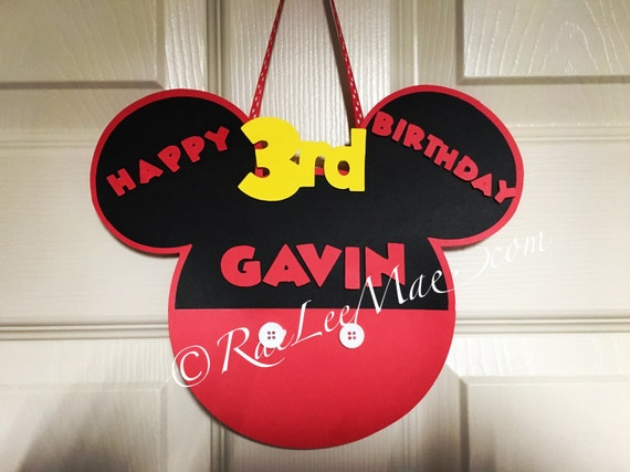 Mickey or Minnie Mouse Birthday Door signMickey Mouse Birthday BannerDoor BannerBaby Shower BannerMickey Mouse BirthdayMinnie Mouse