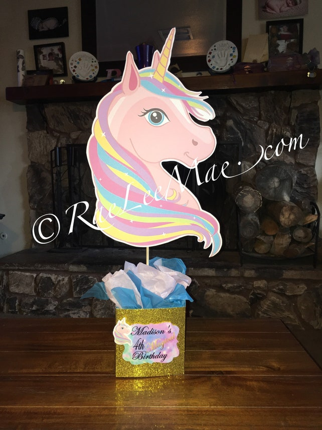 Unicorn Centerpiece Magical Unicorn Party Decorations Unicorn Baby