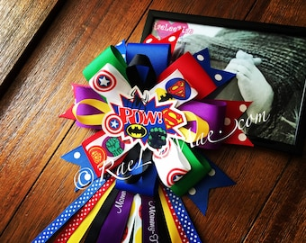 Super hero Baby Shower corsage/Mommy-To-Be corsage/Super hero Theme party/Baby Shower corsage/superhero baby shower/superman/batman/spiderma