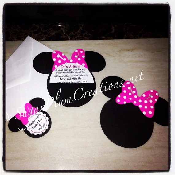 40 Minnie Mouse Custom Baby Shower Invitationsminnie Mouse Etsy