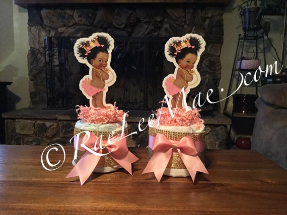 Little Diva Diapercake Mini Vintage Baby Diaper Cake Hot Pink