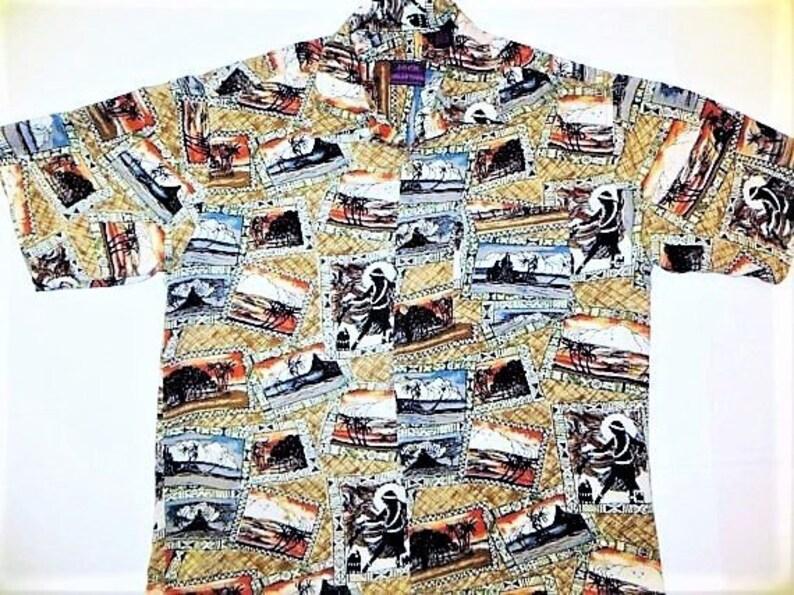 dd5819dc Rayon Hawaiian Shirt Jack Hollywood Vintage 90s Hawaiian   Etsy