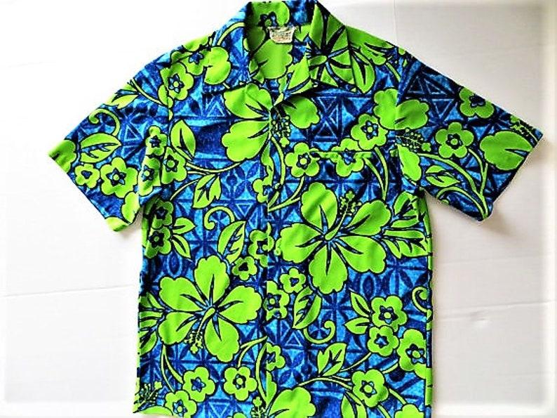 f7645463 Vintage 60s 70s Hawaiian Shirt Diamond Head Flare Collar   Etsy