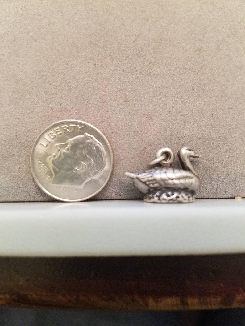 sterling silver ram wildlife CHARM Vintage