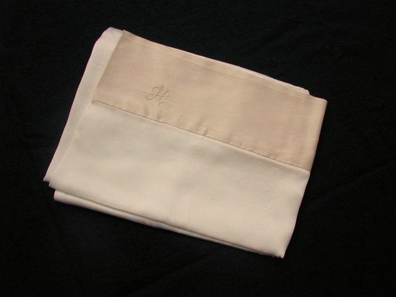Monogrammed charmeuse mulberry silk pillowcase