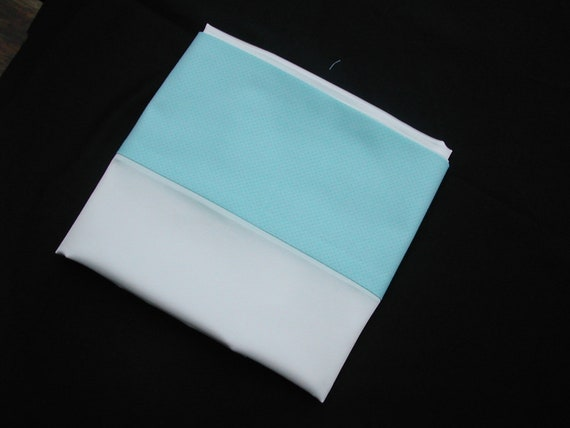Mulberry silk charmeuse pillowcase with turquoise top (pair)