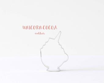 Unicorn Cocoa Cookie Cutter, ORIGINAL, Unicorns, Custom Cookie Cutters, Cookies, Fairytale, Magic, Winter, Hot Chocolate, Trends, Instagram
