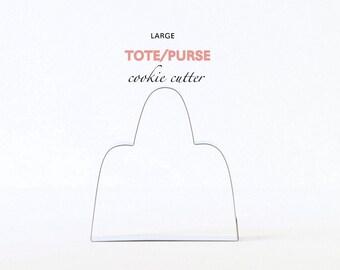 Large Tote Purse Cookie Cutter, Custom Cookie Cutters, Cookies, Fashion, Design, Custom, Style, Trends, Birkin, Handbag,