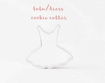 Dress Tutu Cookie Cutter (Stainless Steel)