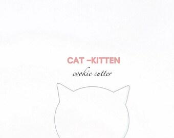 Cat Kitten Face Cookie Cutter-