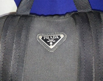 7afa80533a3f Vintage Authentic PRADA MILANO Backpack Bag Black Made In Italy