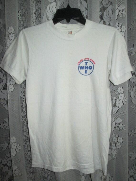 Rock 1979 shirt T Live Tour The Who Vintage Concert Long Fq0Afw