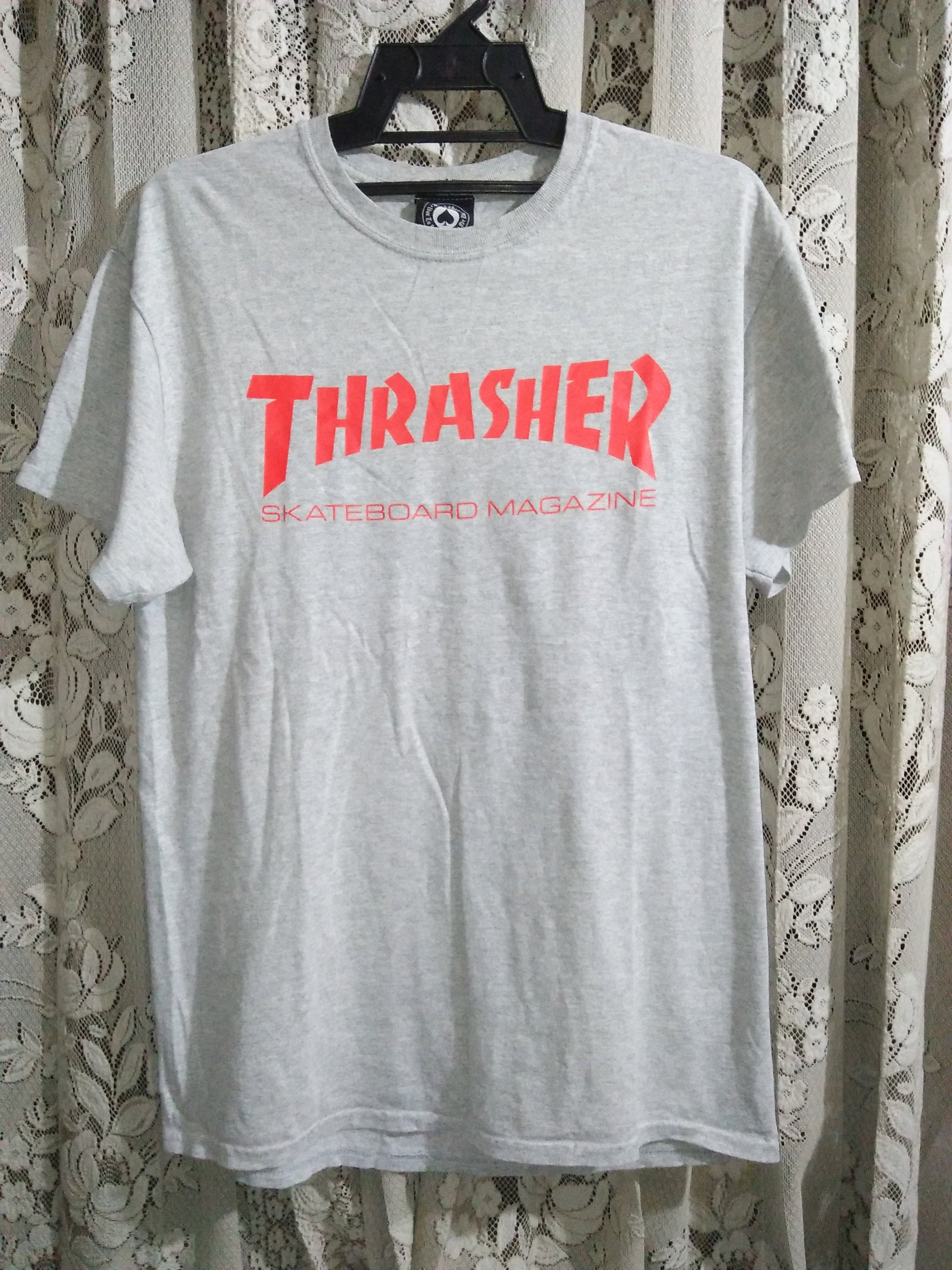 Vintage 1990s Thrasher Magazine Skateboard Red Logo T-shirt Original