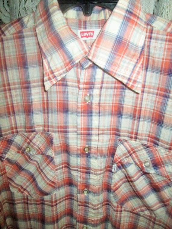 Vintage Levis 1970S Flannel Checkered Shirt Origin