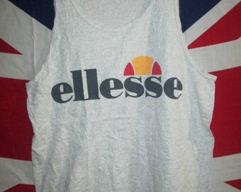 Vintage Ellesse Tank Top Singlet Casual Terraces Shirt