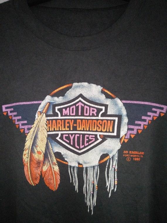 vintage harley davidson 3d emblem motorcycle sweater shirt etsy
