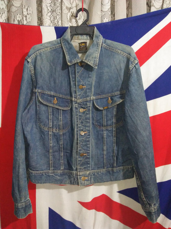 7c4cf388d75 Vintage 1960s Lee Rider 101-J Denim Jacket Union Made in USA
