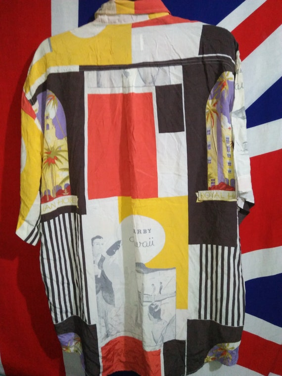 Rayon Beach Match Big Royal Vintage Shirt Hawaiian Hawaii gB70ZB1wq