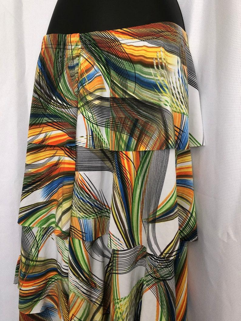 Retro 2000 Multi Colored Gypsy Skirt